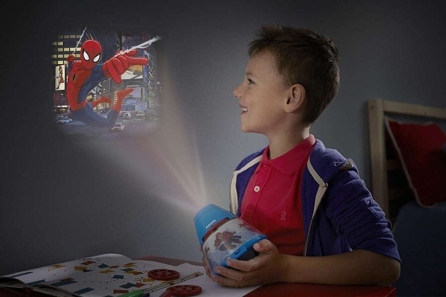 Philips Marvel 2-i-1 LED Projektor og Nattlys Spiderman-66026