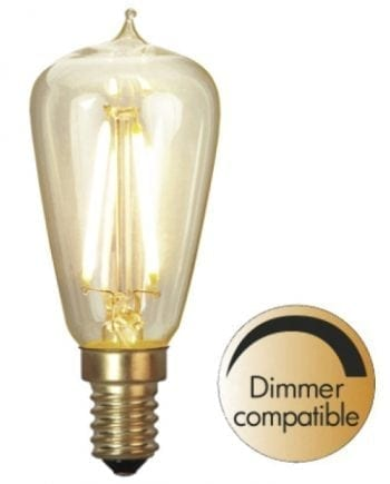 1,8W E14 LED Soft Glow Edison Pære Dimbar 38x88mm-0