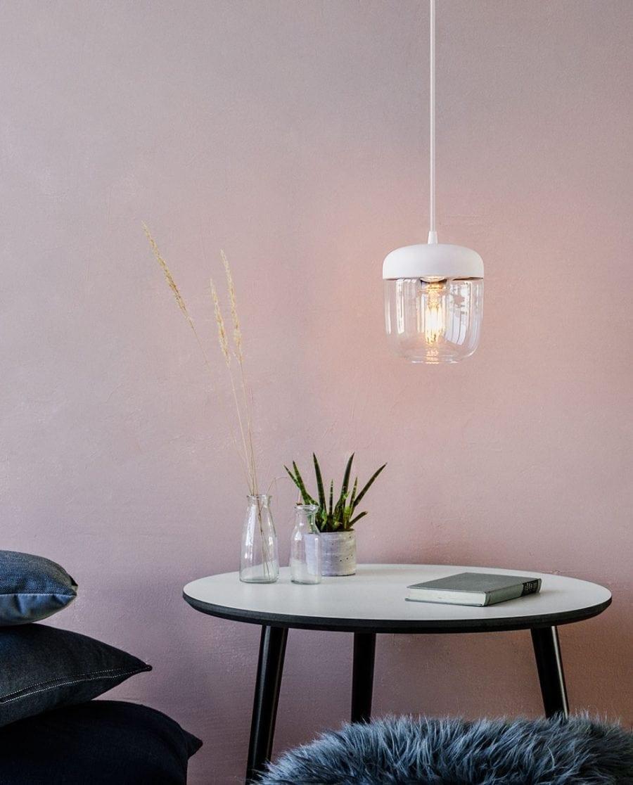 VITA Acorn Lampeskjerm Hvit/Messing-0
