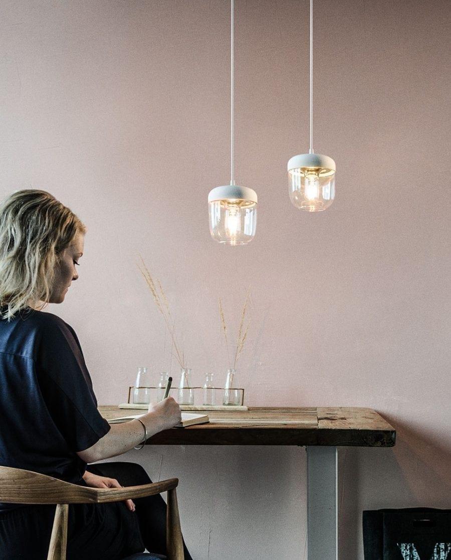VITA Acorn Lampeskjerm Hvit/Messing-67011