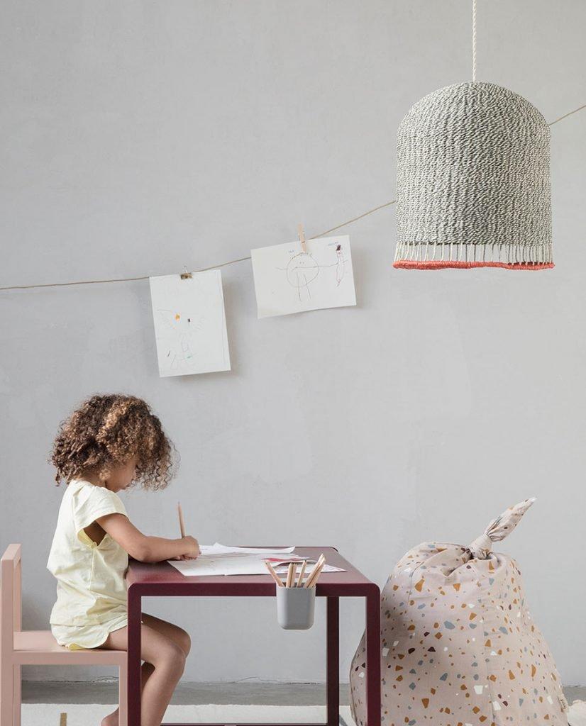 ferm living braided lampeskjerm lysegr medium. Black Bedroom Furniture Sets. Home Design Ideas