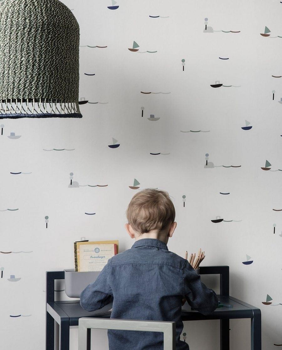 Ferm LIVING Braided Lampeskjerm Grønn Høy-0
