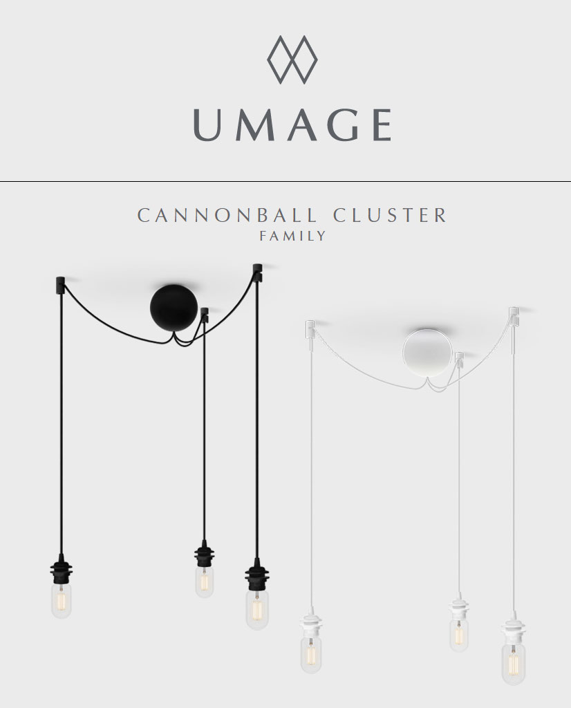 UMAGE Cannonball Cluster 3 Oppheng | Designbelysning.no