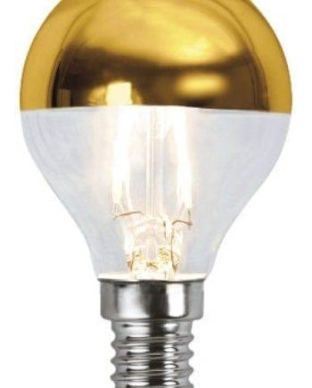 1,8W (=20W) E14 LED Filament Toppforspeilet Pære Gull-0