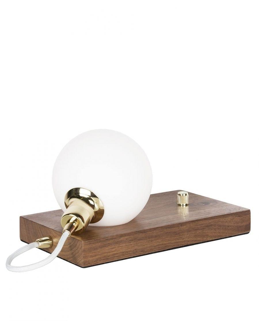 Globen Lighting Orb Valnøtt/Messing Bordlampe-67604