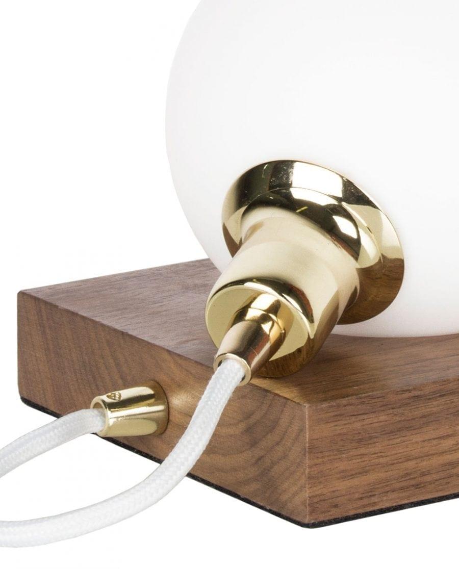 Globen Lighting Orb Valnøtt/Messing Bordlampe-67603