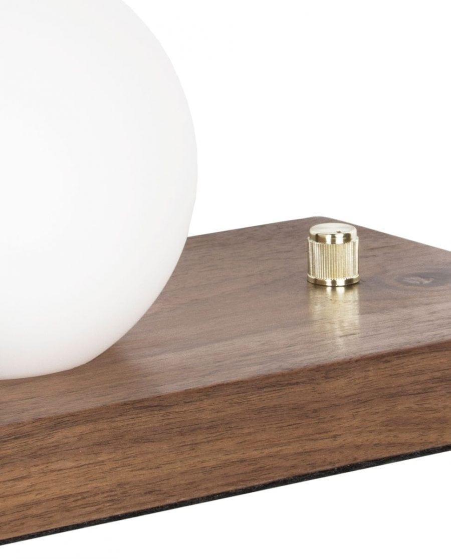 Globen Lighting Orb Valnøtt/Messing Bordlampe-67601