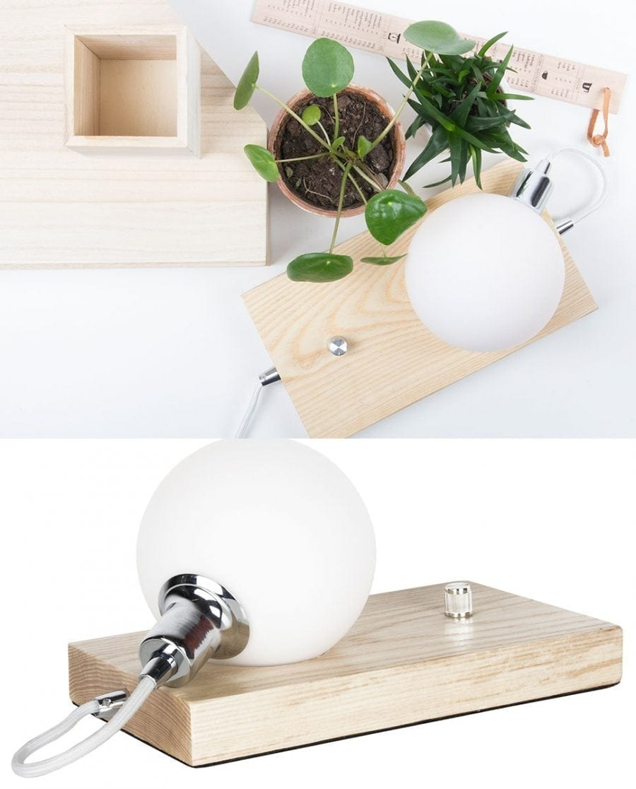 Globen Lighting Orb Ask/Krom Bordlampe-67614