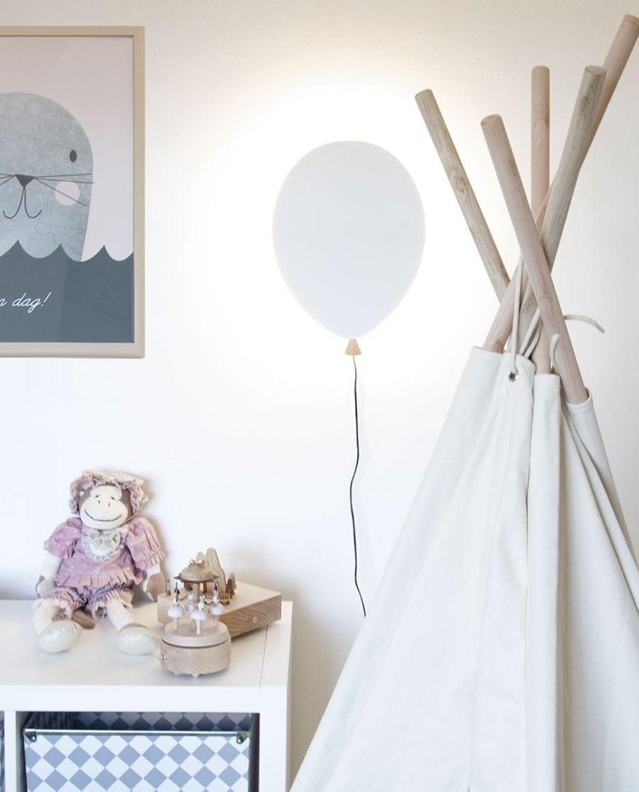 Globen Lighting LED Balloon Hvit Vegglampe-0