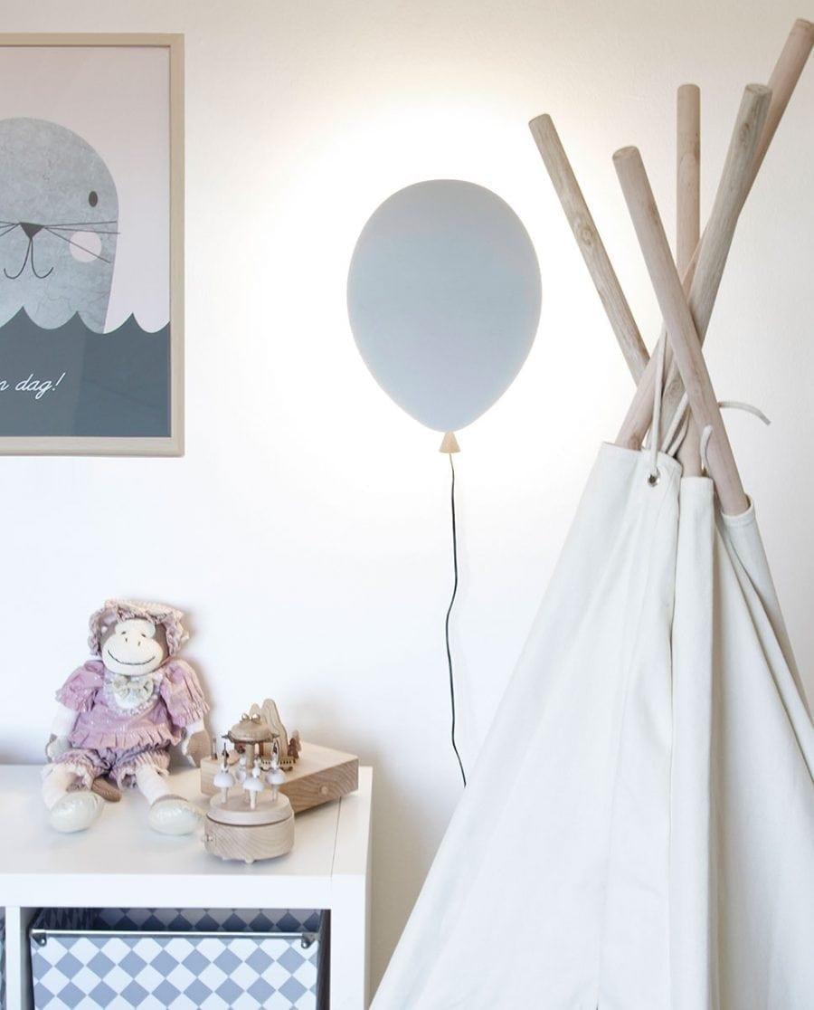 Globen Lighting LED Balloon Grå Vegglampe-0