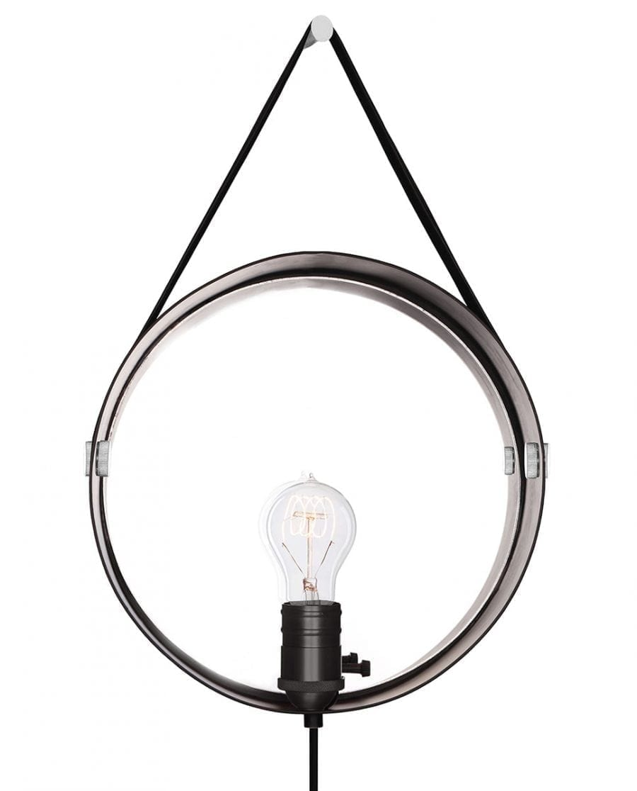 Globen Lighting Hangover Sort/Krom Vegglampe-67756