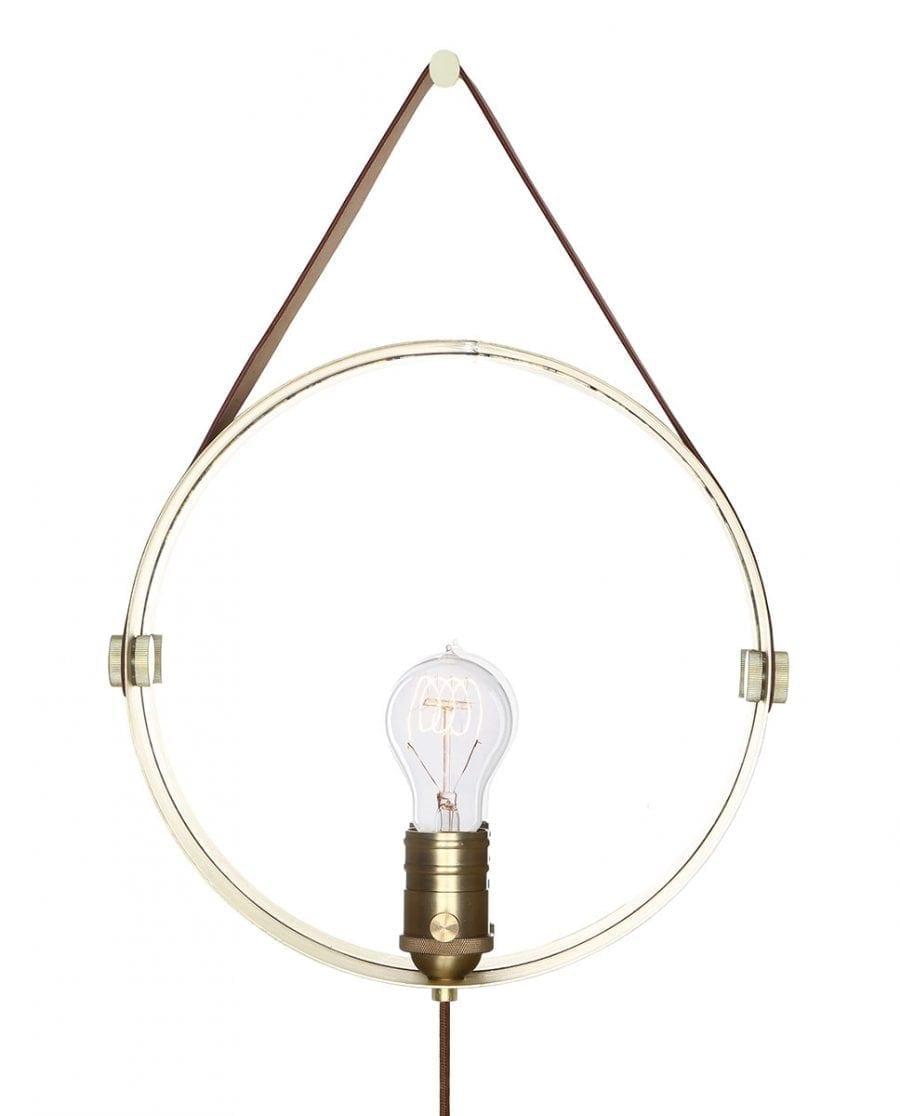 Globen Lighting Hangover Brun/Messing Vegglampe-67766
