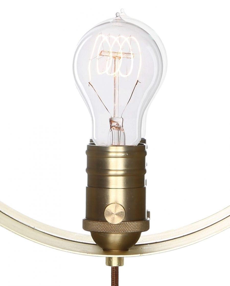 Globen Lighting Hangover Brun/Messing Vegglampe-67765