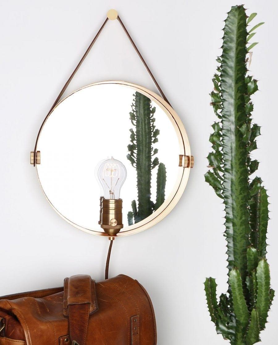 Globen Lighting Hangover Brun/Messing Vegglampe-0