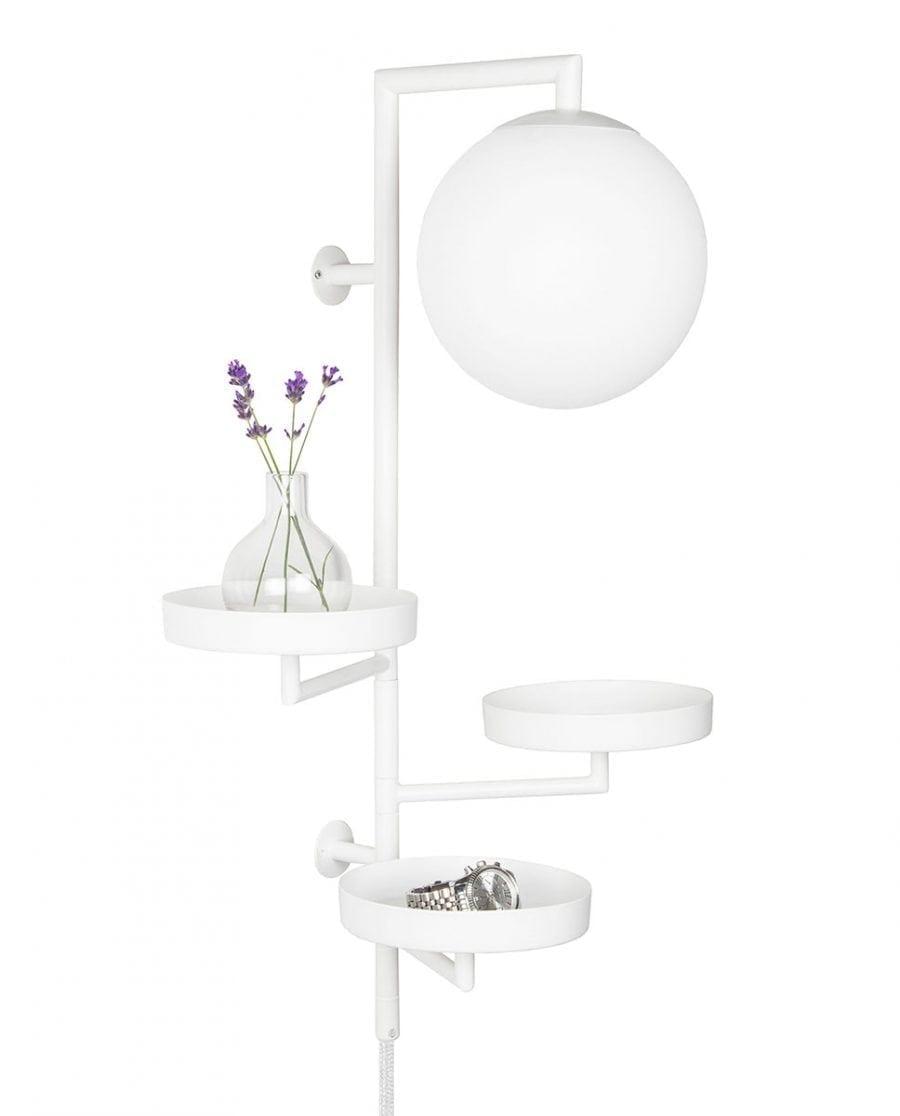 Globen Lighting Astoria Hvit Vegglampe-67454