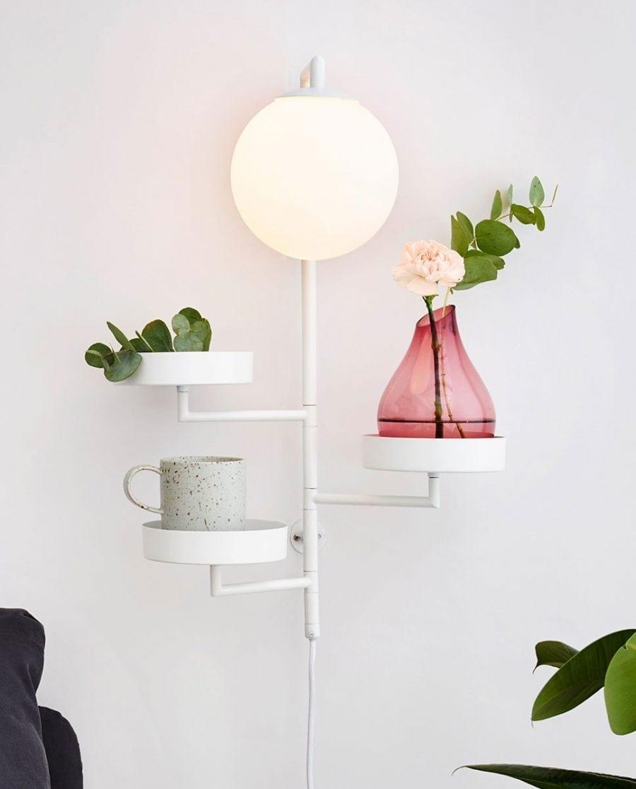 Globen Lighting Astoria Hvit Vegglampe-67453