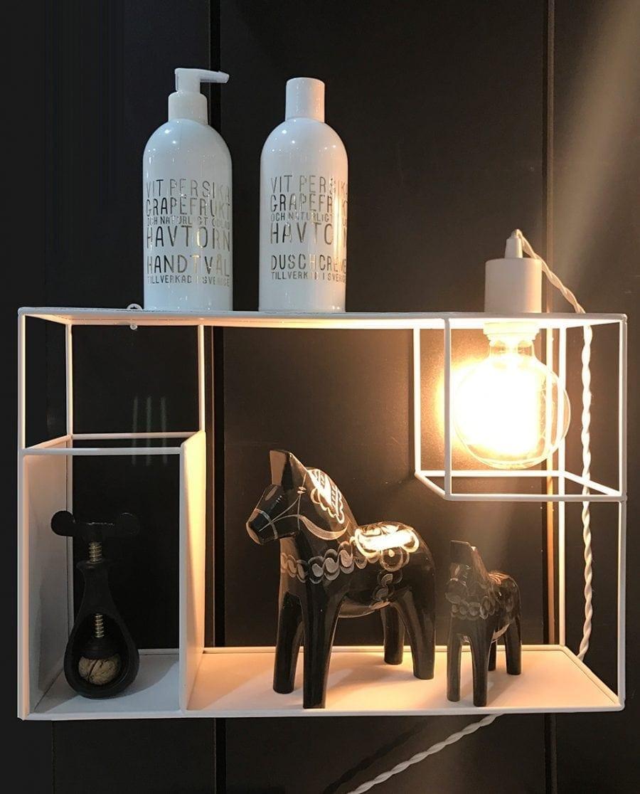 Globen Lighting Shelfie Hvit Vegglampe-0