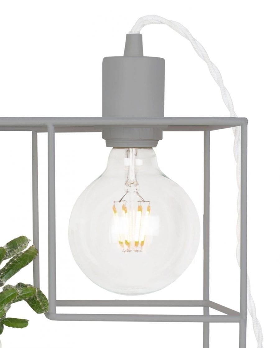 Globen Lighting Shelfie Grå Vegglampe-67544
