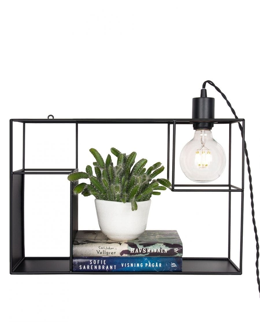 Globen Lighting Shelfie Sort Vegglampe-67553