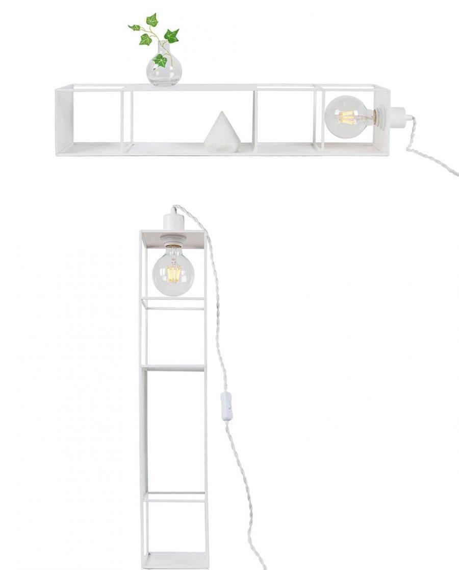 Globen Lighting Shelfie Long Hvit Vegglampe-67562