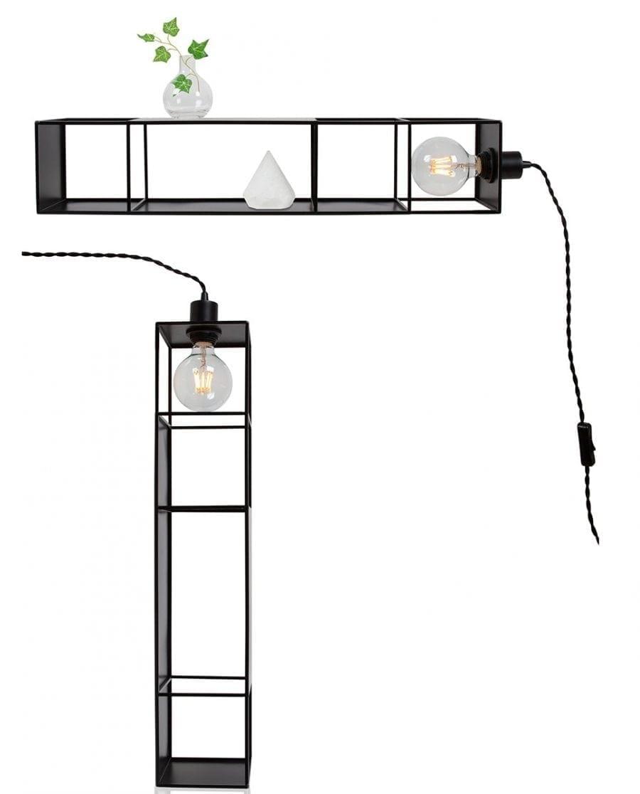 Globen Lighting Shelfie Long Sort Vegglampe-67583