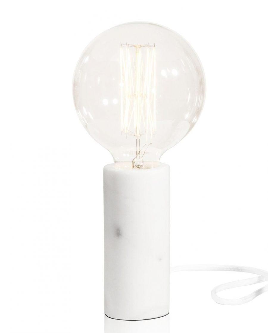 Globen Lighting Marble Hvit Bordlampe-67692