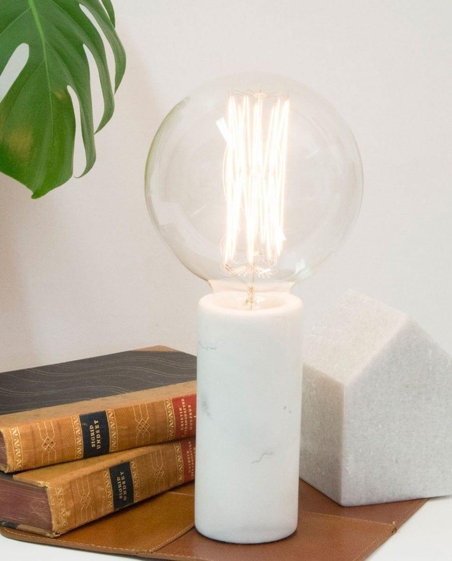 Globen Lighting Marble Hvit Bordlampe-0