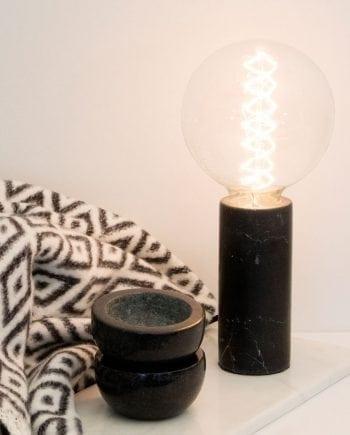 Globen Lighting Marble Sort Bordlampe-0