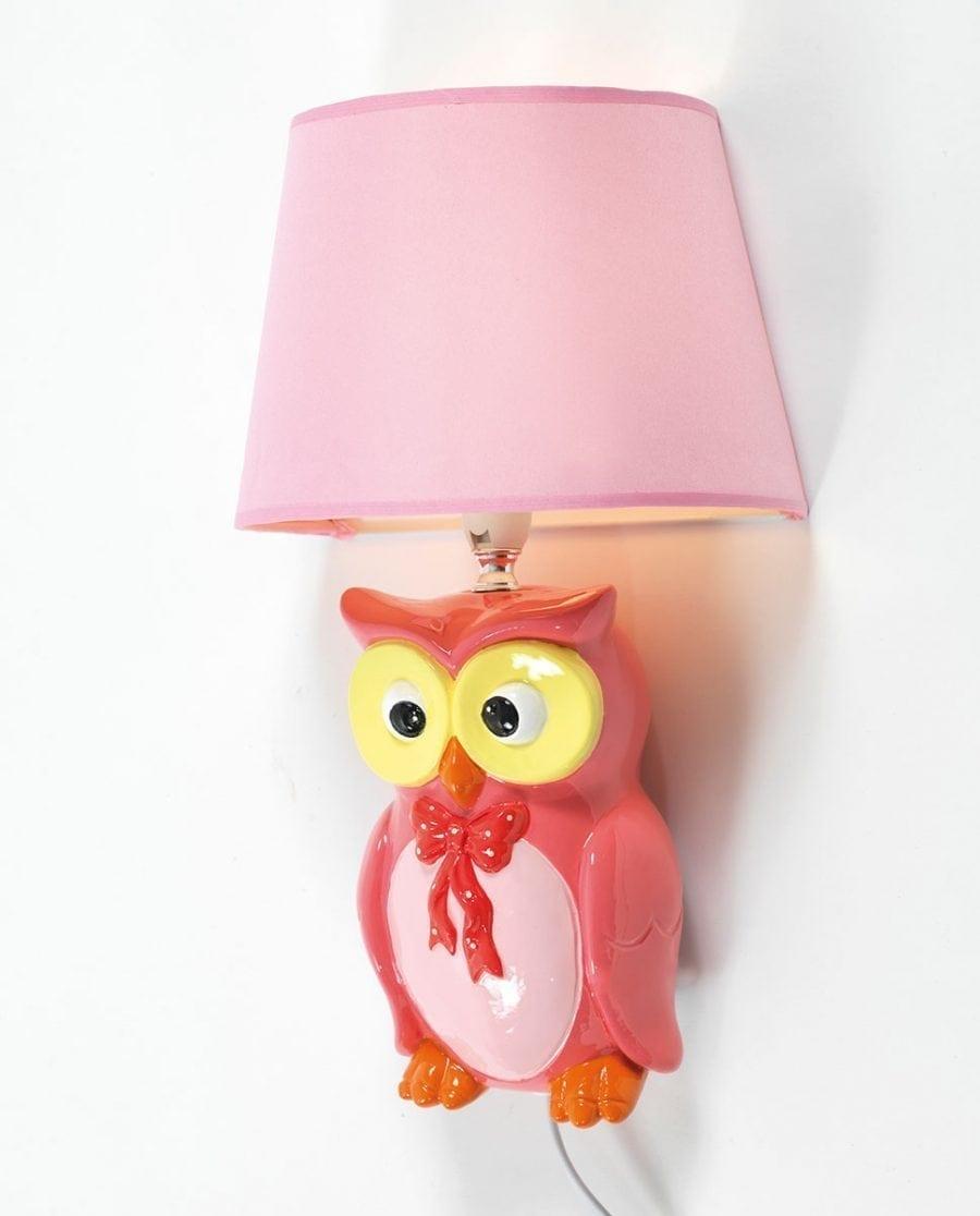 Ugle Vegglampe m/ Skjerm-0