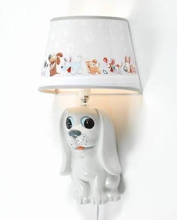 Hund Vegglampe m/ Skjerm-0