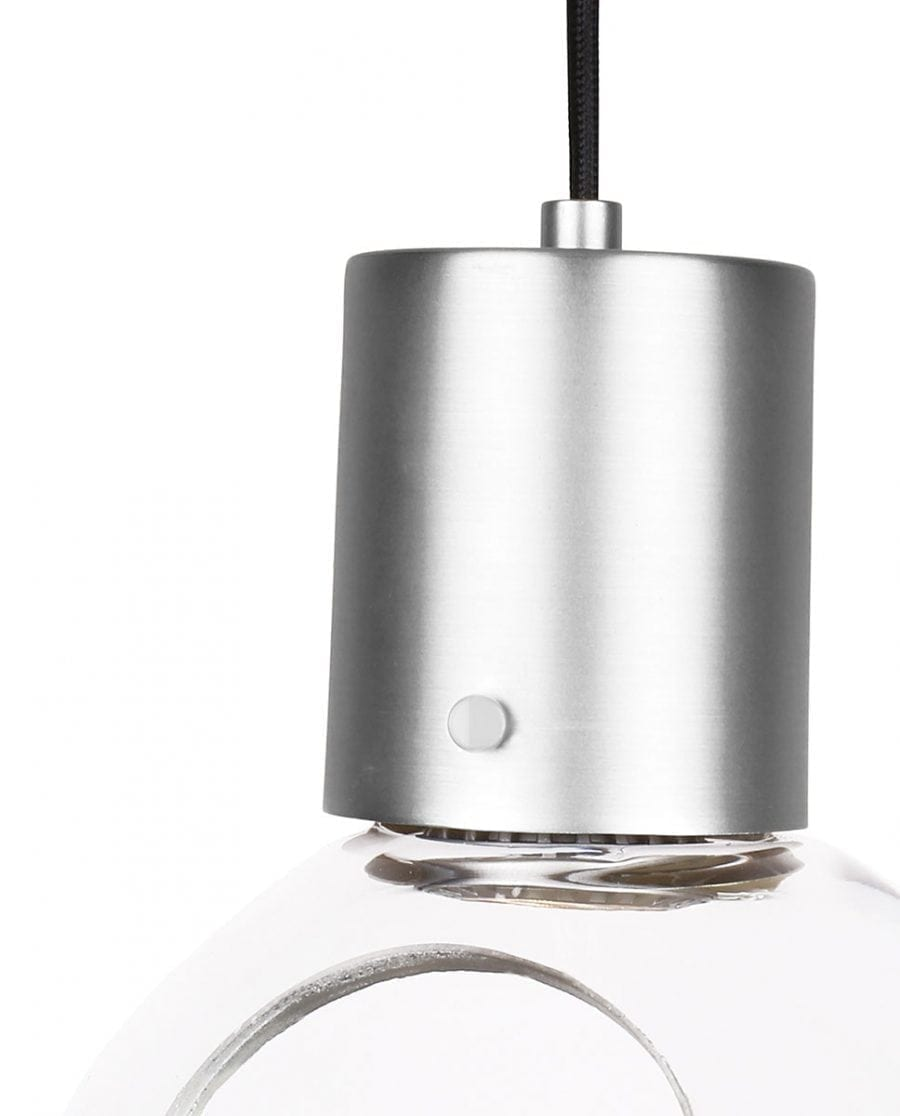 Globen Lighting Mini Hole Klar/Børstet Krom Pendel, hengelamper-67873