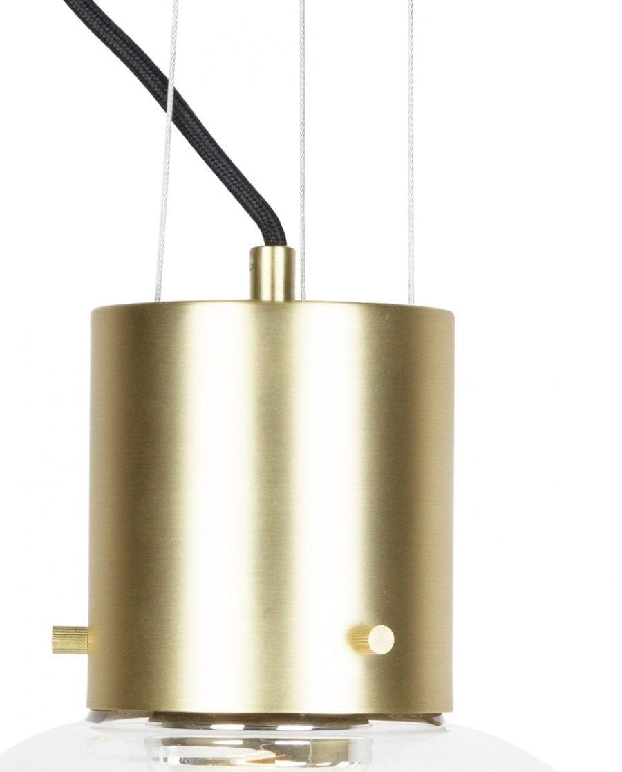 Globen Lighting Hole XL Klar/Børstet Messing Pendel-67913