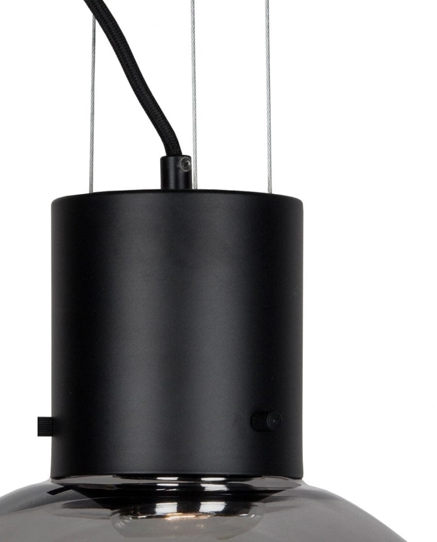 Globen Lighting Hole XL Røyk/Matt Sort Pendel-67923