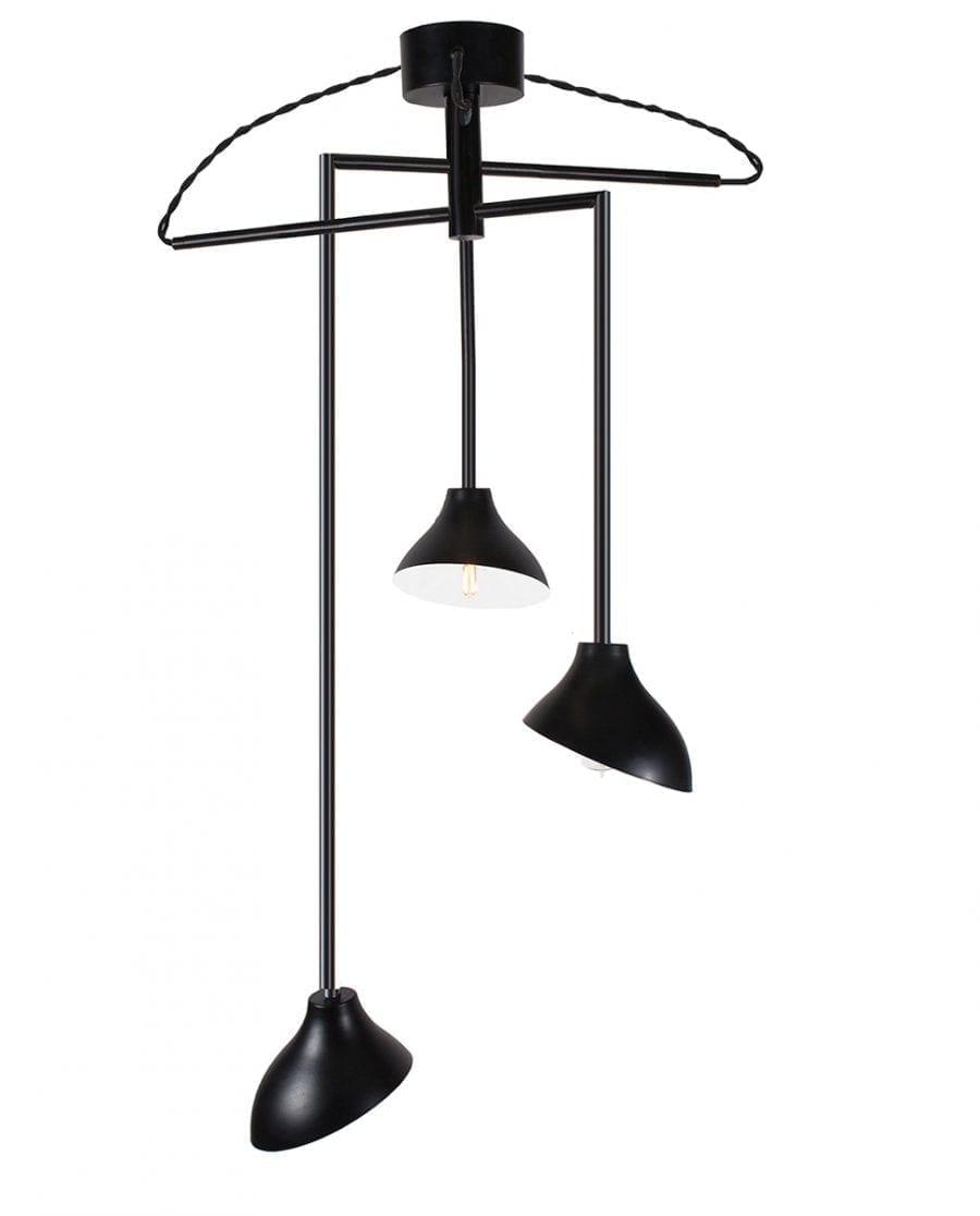 Globen Lighting Shift 3 Sort Pendel-0
