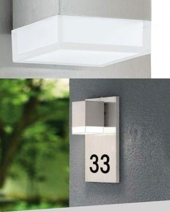 Pardela 1 LED Vegglampe m/ Husnummer-0