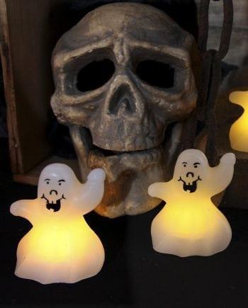 Halloween LED Vokslys Spøkelse 2 pk-0
