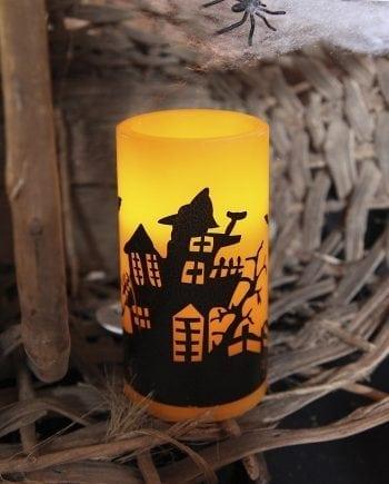 Halloween LED Vokslys Spøkelseshus-0