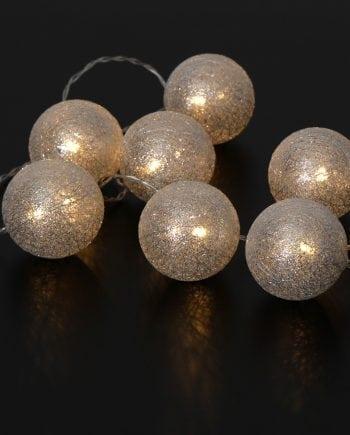 Jolly Glitter Light 10 LED Lysslynge Sølv-0