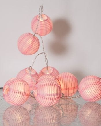 Festival Risball 10 LED Lysslynge Rosa-0