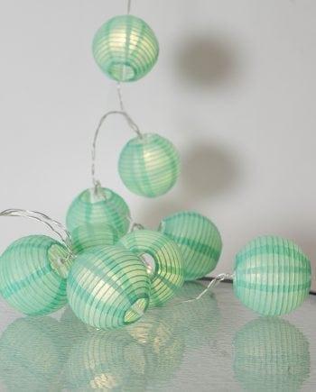 Festival Risball 10 LED Lysslynge Grønn-0
