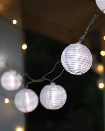Festival LED Lysslynge Risballer Hvit-0