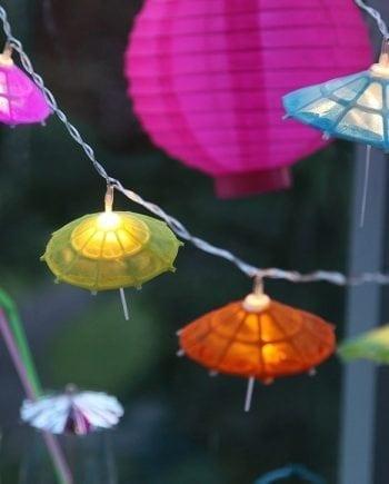 Umbrella 10 LED Party Paraply Batteri Lysslynge-0