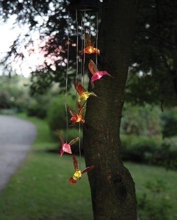 Kolibri LED Solcelle Vindspill-0