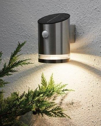 Venize LED Vegglampe Solcelle Sensor/Timer-0