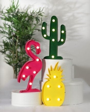 Fruity LED Borddekor Flamingo/Kaktus/Ananas-0