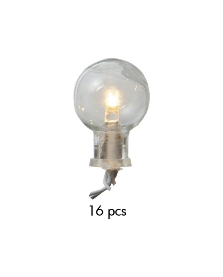 Globe Batteridrevet 16 LED Lysslynge Hvit-69358