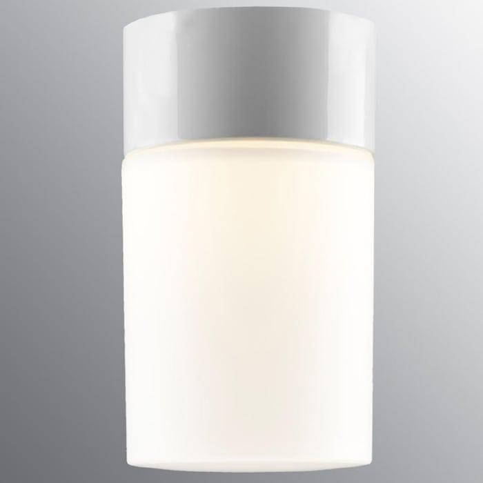 Ifö Opus 100/175 Vegg-/Taklampe Opalt Glass Hvit/Grå/Sort-69700