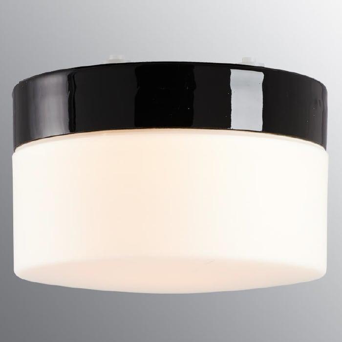 Ifö Opus 200/135 Vegg-/Taklampe Hvit/Grå/Sort-69684