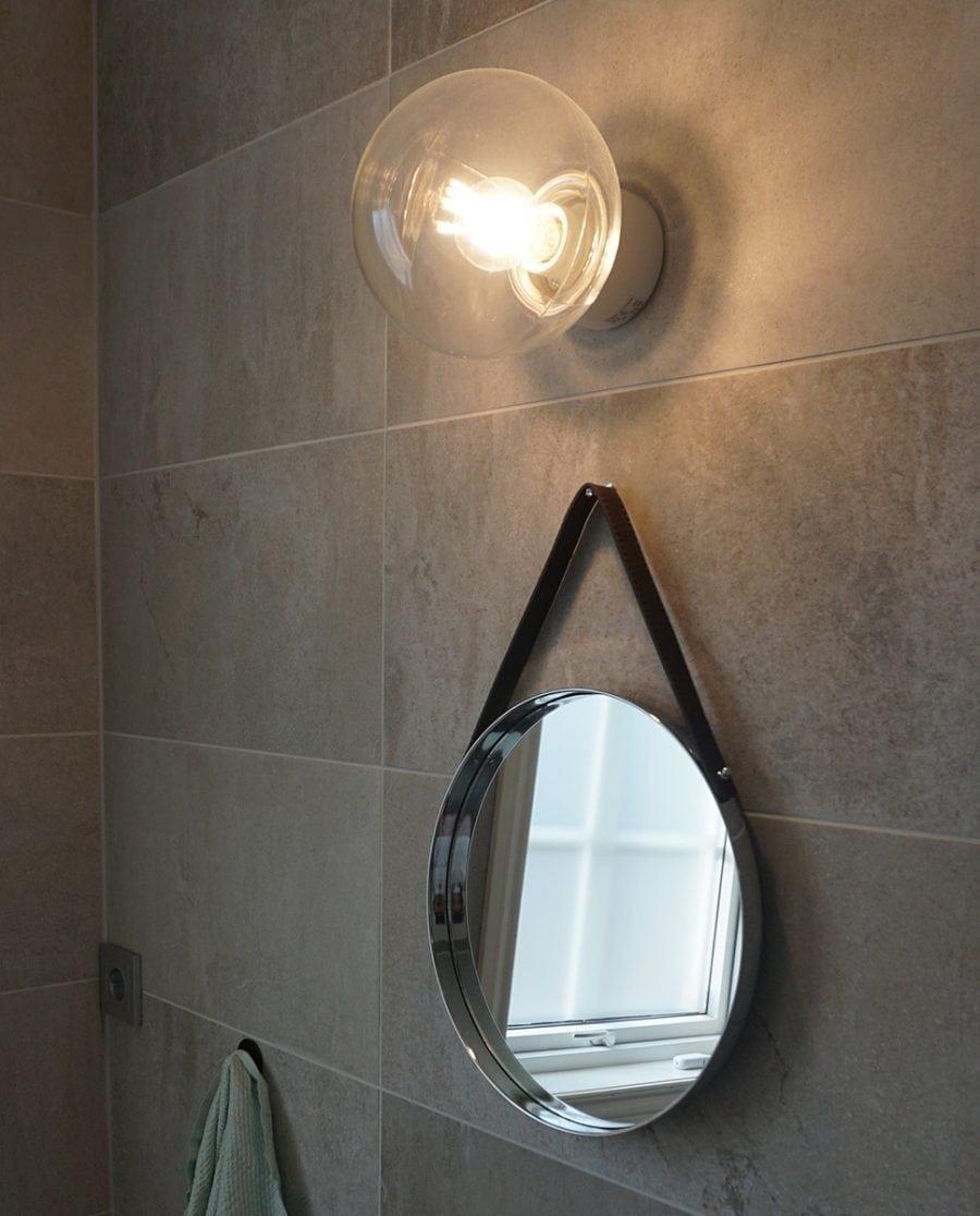 Ifö Classic Glob Vegg-/Taklampe Klart Glass Hvit/Sort 18 cm-70500