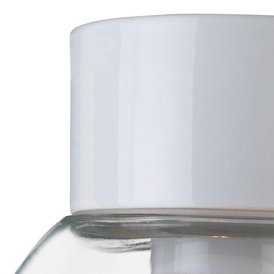 Ifö Classic Glob Vegg-/Taklampe Klart Glass Hvit/Sort 18 cm-69743